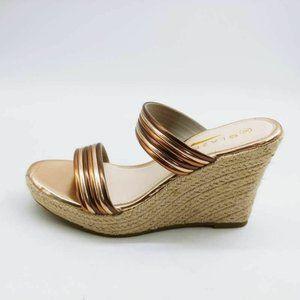 Glaze Womens Kaila Platform Wedge Sandals 8 New